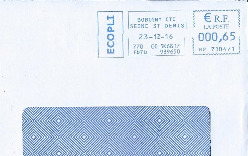 Étiquettes de machine à affranchir.. Envelo10