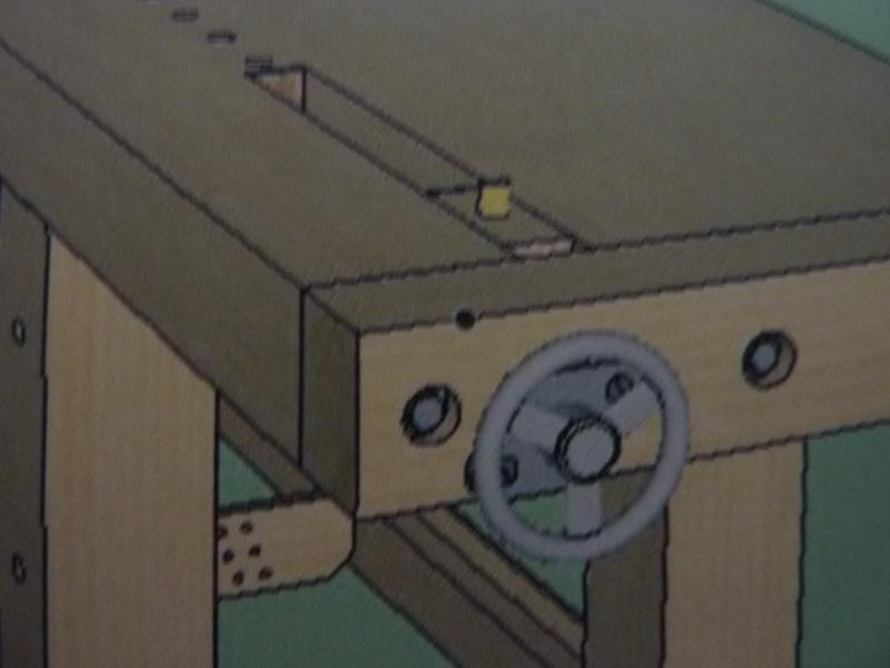 Fabrication d'une platine avec coulisses et vis-mère pour établi ! P1010711