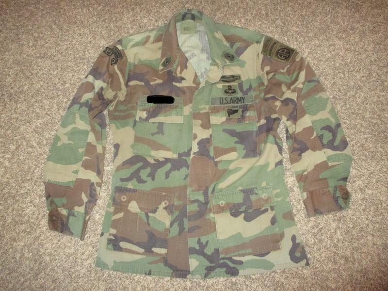 Named BDU Shirt * 1st Ranger Battalion w/ Gold Star Jump Wings Img_1315