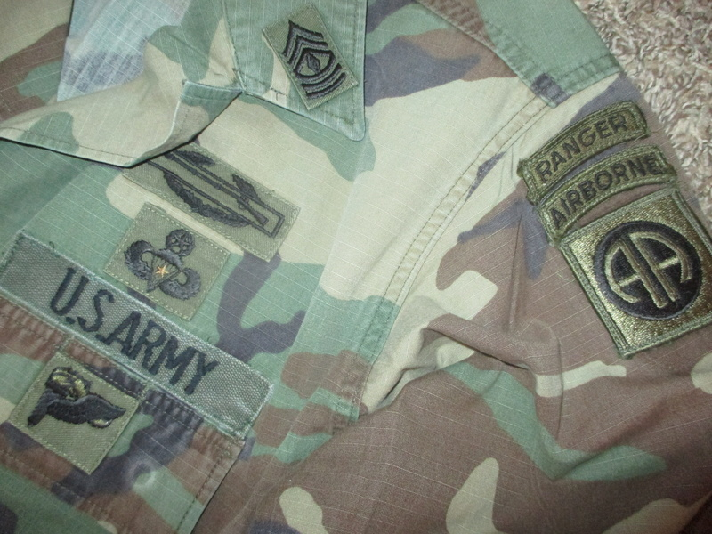 Named BDU Shirt * 1st Ranger Battalion w/ Gold Star Jump Wings Img_1317