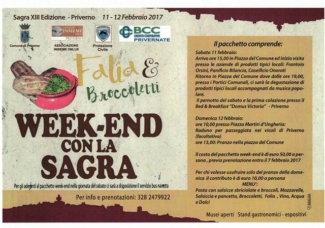 """XIII Sagra """"Falia e broccoletti"""" Week-e10"""
