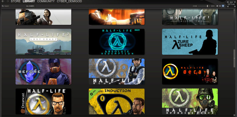 Снимки за играта Half Life  Steamw10