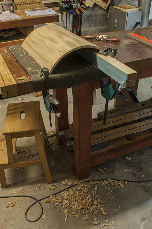 [Fabrication] Un habillage de cheminée en cèdre - Page 3 Copeau12