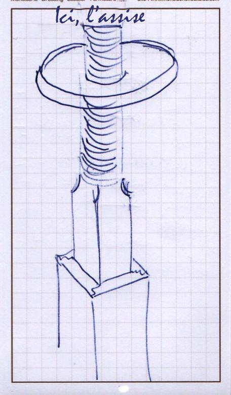 Projet de tabouret réglable d'atelier Vis_yc10
