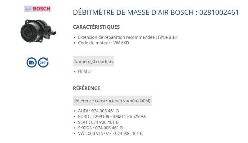 debimetre masse d air pour vw t5 2,5l tdi 130ch Debime13