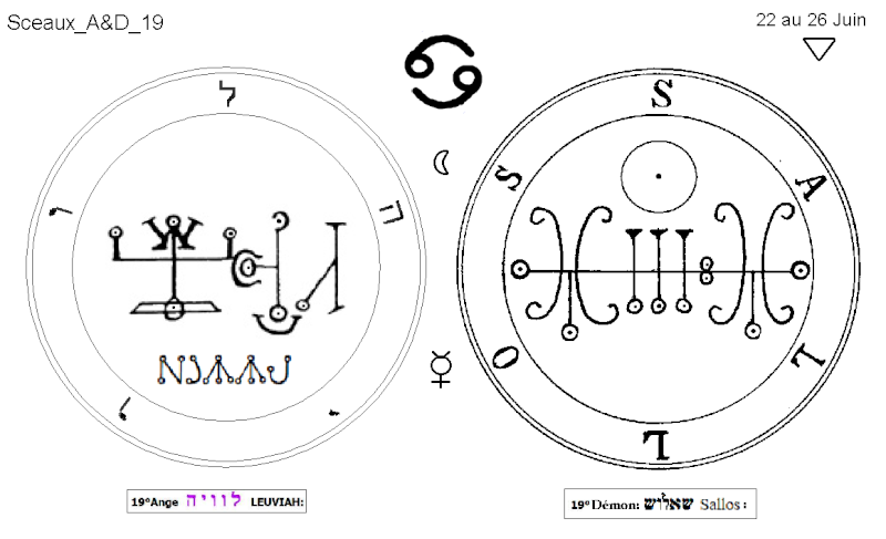 Les 144 sceaux Anges Demons The Master Mandala 3/6 Masc1910