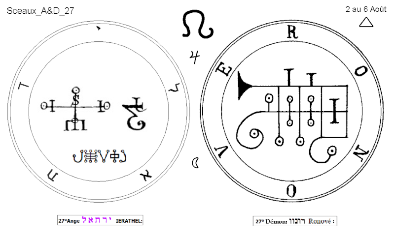 Les 144 sceaux Anges Demons The Master Mandala 3/6 Masc2710