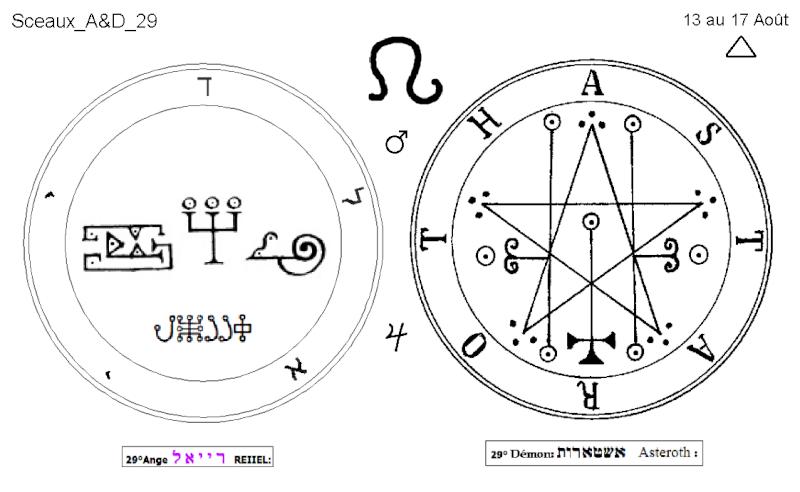 Les 144 sceaux Anges Demons The Master Mandala 3/6 Masc2910