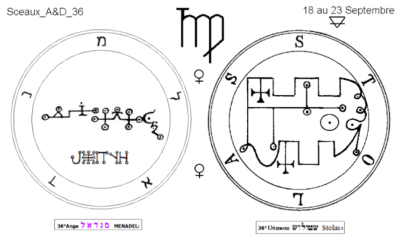 Les 144 sceaux Anges Demons The Master Mandala 3/6 Masc3610