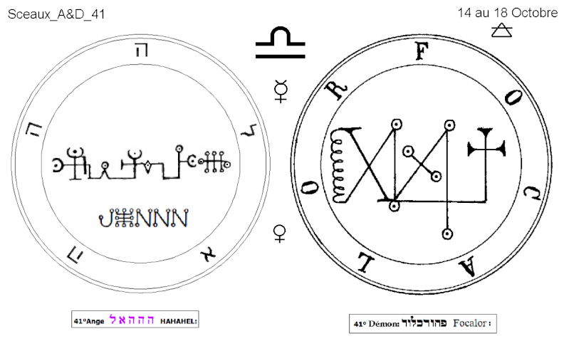 Les 144 sceaux Anges Demons The Master Mandala 4/6 Masc4110