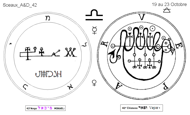 Les 144 sceaux Anges Demons The Master Mandala 4/6 Masc4210
