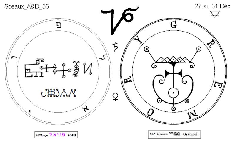 Les 144 sceaux Anges Demons The Master Mandala 5/6 Masc5610