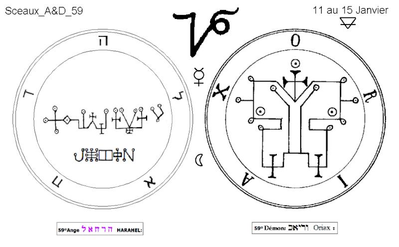 Les 144 sceaux Anges Demons The Master Mandala 5/6 Masc5910