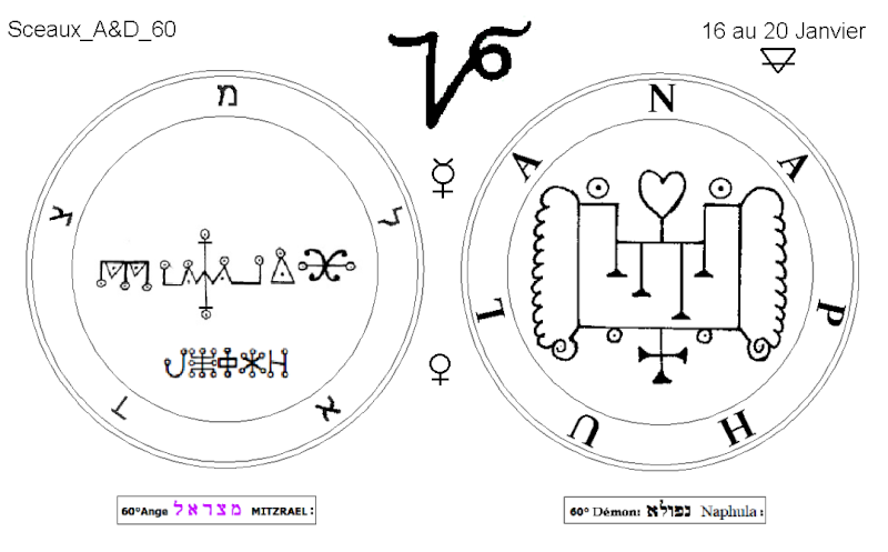 Les 144 sceaux Anges Demons The Master Mandala 5/6 Masc6010