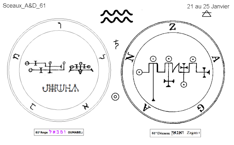 Les 144 sceaux Anges Demons The Master Mandala 5/6 Masc6110