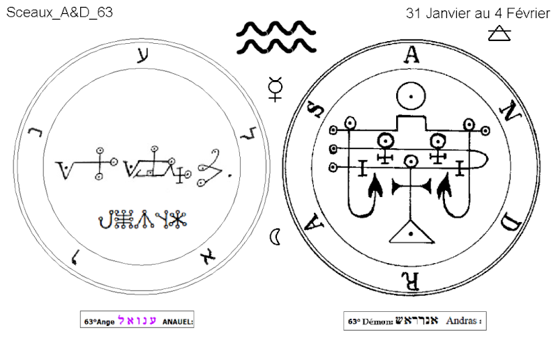 Les 144 sceaux Anges Demons The Master Mandala 5/6 Masc6310
