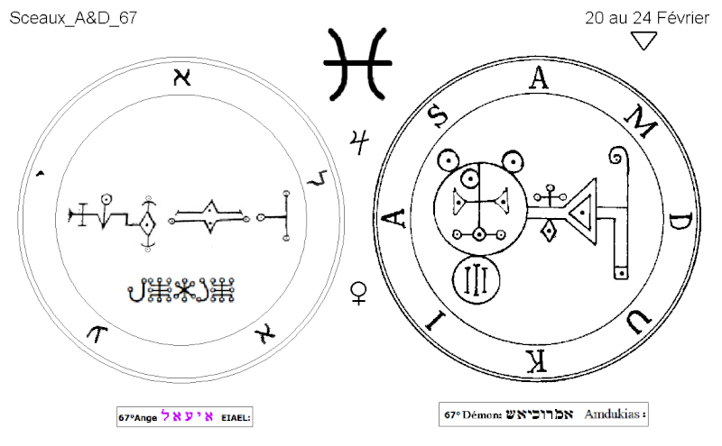 Les 144 sceaux Anges Demons The Master Mandala 5/6 Masc6710