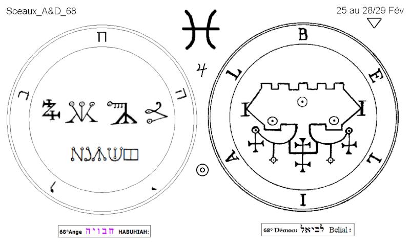 Les 144 sceaux Anges Demons The Master Mandala 5/6 Masc6810