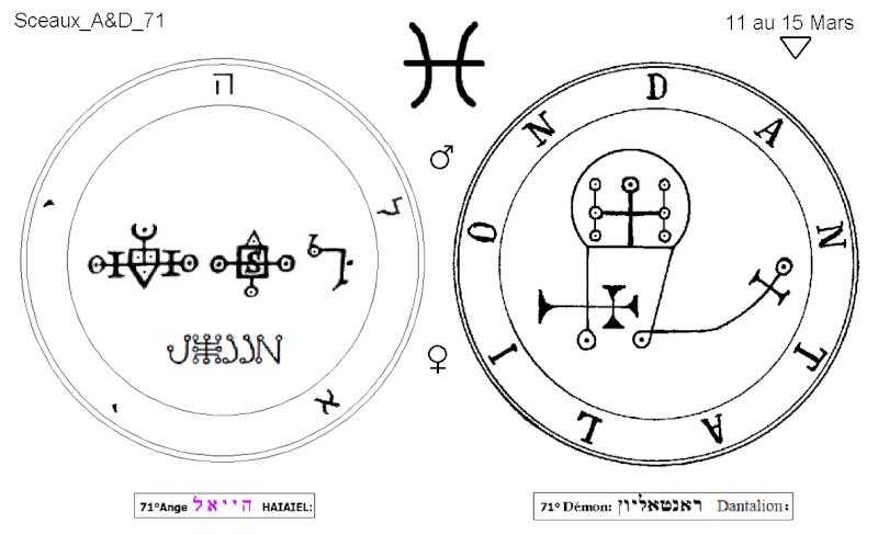 Les 144 sceaux Anges Demons The Master Mandala 5/6 Masc7110