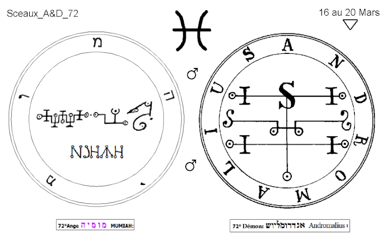 Les 144 sceaux Anges Demons The Master Mandala 5/6 Masc7210