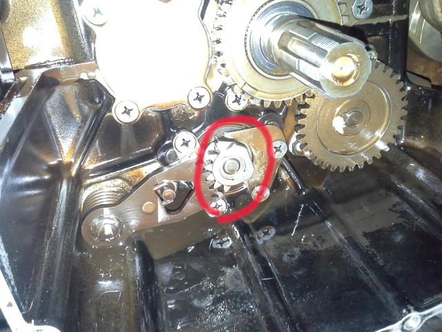Mecanisme de selection de vitesse sur 1100 GSX EFE  Boite10