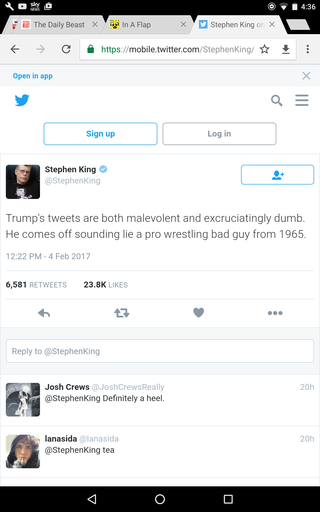 Stephen King on Trump Tweets Screen52