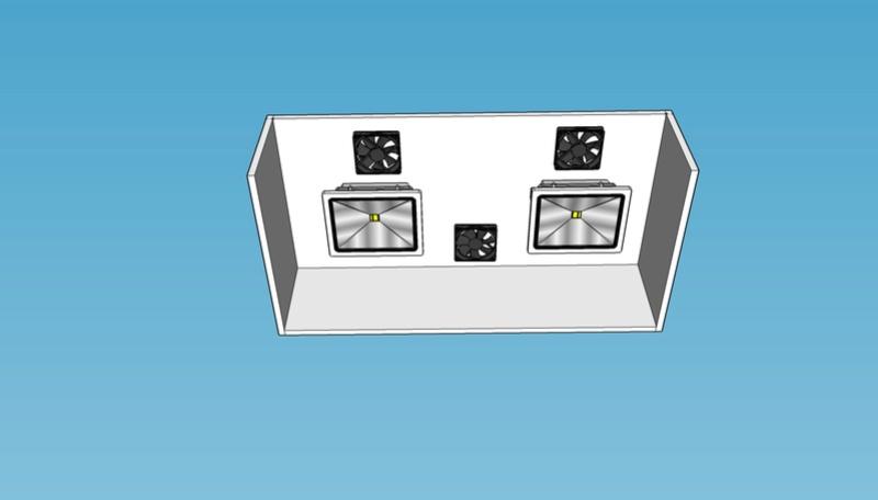 Fabrication galerie éclairage en PVC Sans_t10