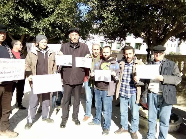 Rassemblement pour sauver le Dr Fekhar et ses compagnons à Aokas 28 janvier 2017 1321
