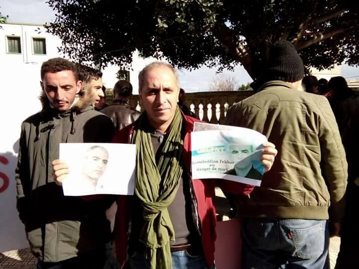 Rassemblement pour sauver le Dr Fekhar et ses compagnons à Aokas 28 janvier 2017 1325