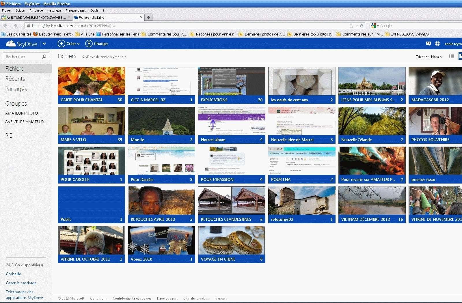 POSTER DES PHOTOS ET AUTORISER DES COMMENTAIRES DS SON SKYDRIVE PERSO SUR WINDOWS LIVE  Daniel10