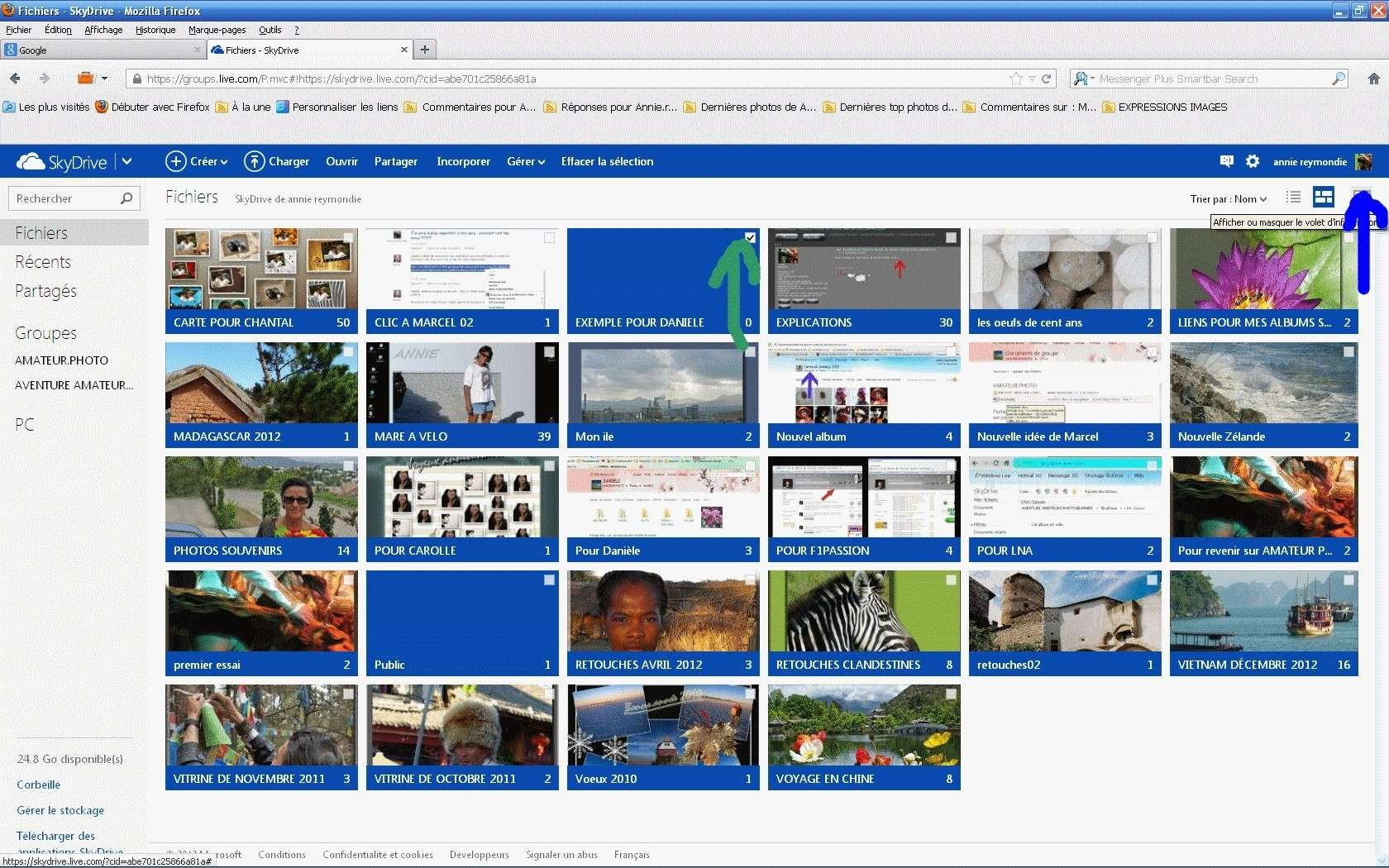 POSTER DES PHOTOS ET AUTORISER DES COMMENTAIRES DS SON SKYDRIVE PERSO SUR WINDOWS LIVE  Daniel13