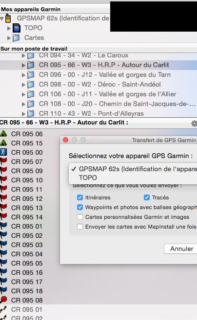 Où sont stockés les WP dans la mémoire du GPS Montana 650t Captur22