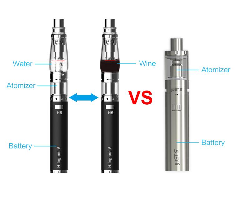 Vaporisateur unique portable e-liquide avec filtre à eau installé de beyang vapor 14834514