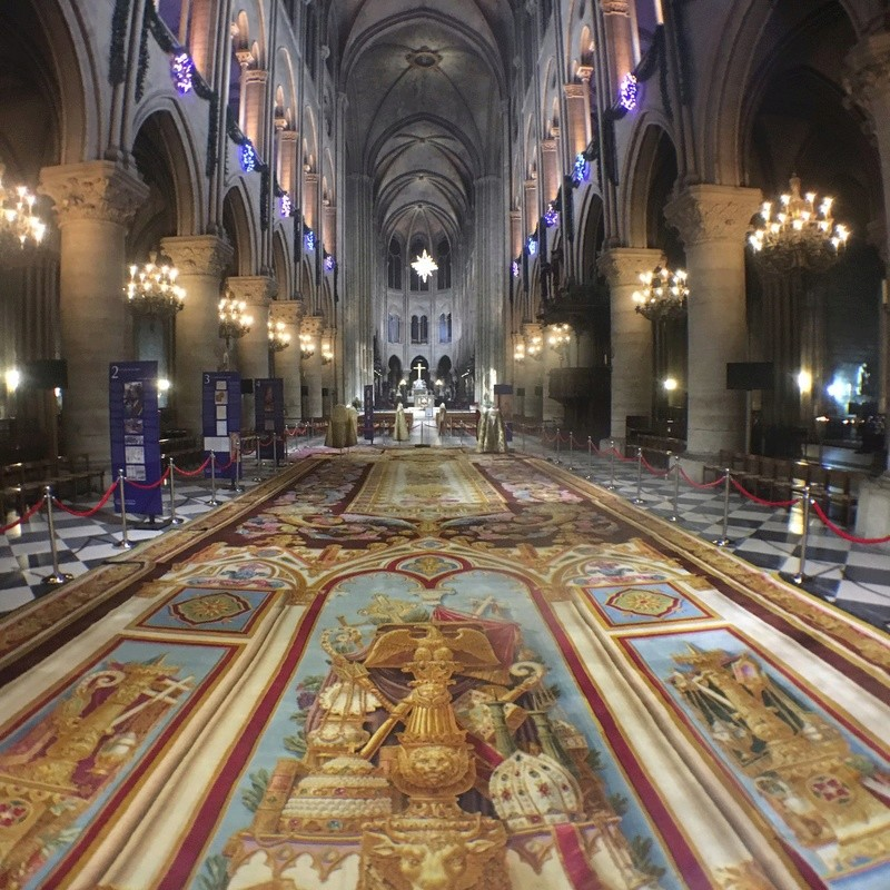 Notre-Dame de Paris. Exposition « Tapis du choeur » C1rapc10