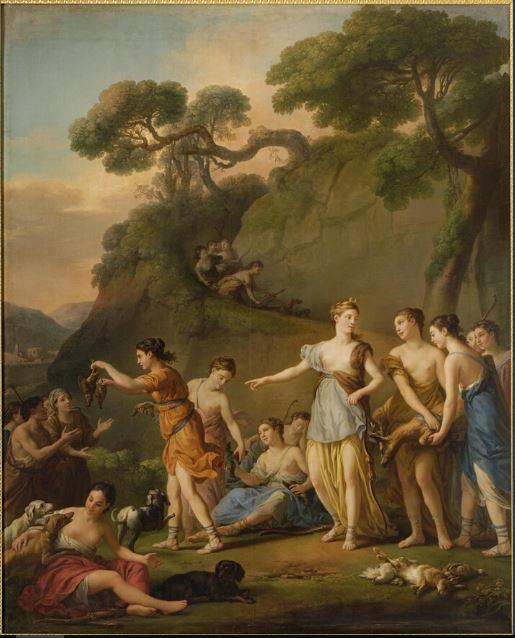 Montpellier, expo Joseph-Marie Vien, premier peintre du roi Chasse10