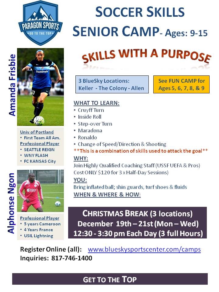 Indoor XMAS CAMP-LEARN from Professional Players Christ10