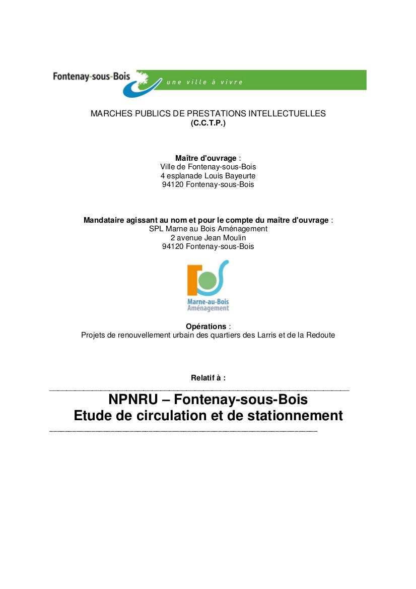 Restructuration dans un rayon de 400 m autour de la nouvelle gare du Val de Fontenay Npnru_10