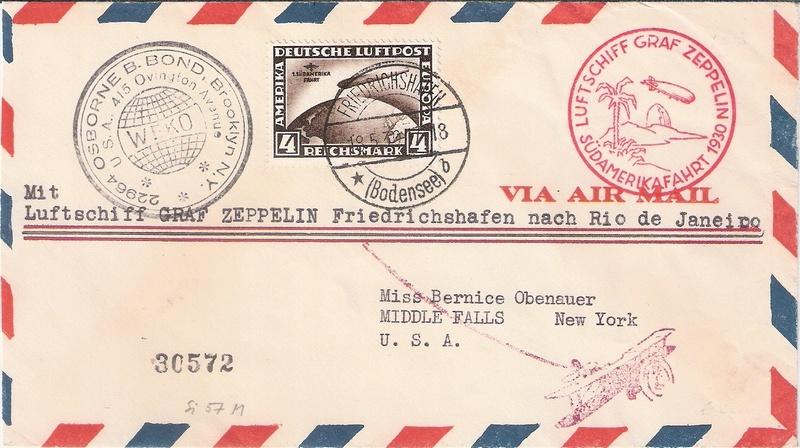"""nach - Südamerikafahrt 1930 (Rundfahrt-) Post nach Friedrichshafen"""" - Seite 7 Bond_o11"""