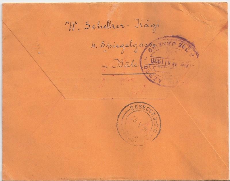 nach - Südamerikafahrt 1930, Post nach Rio de Janeiro - Seite 3 Schwei10