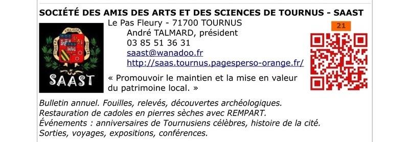 Société des Amis des Arts et des Sciences de Tournus  en Bourgogne du Sud 2111