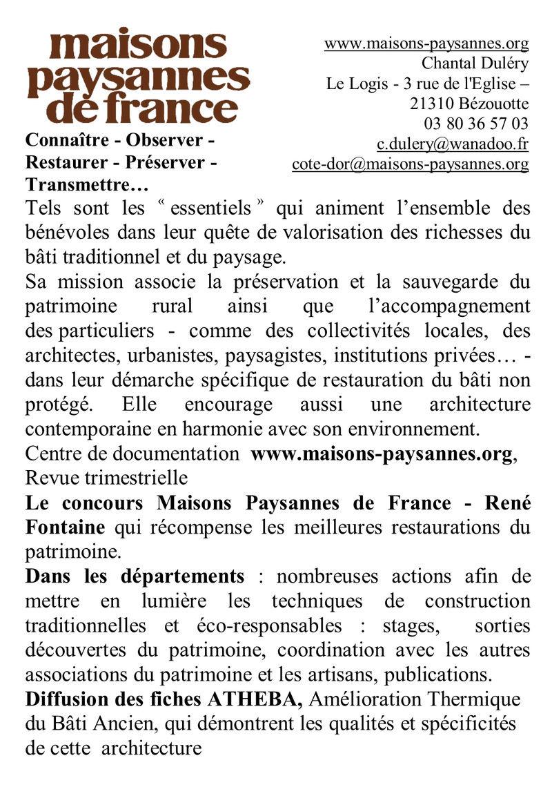 MAISONS PAYSANNES DE FRANCE  (délégation de Saône et Loire) Mpf10