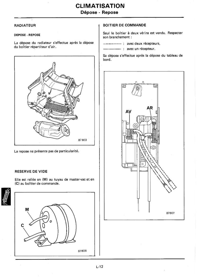 Chauffage Renault 25 Turbo DX 215