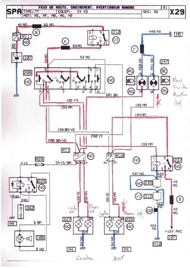 Probleme feux de route Renault 25 TDX 216