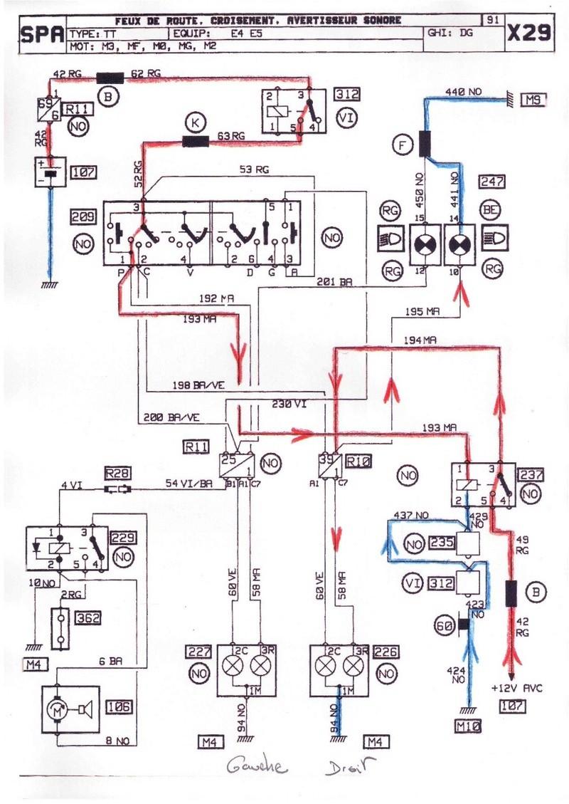 Probleme feux de route Renault 25 TDX 312