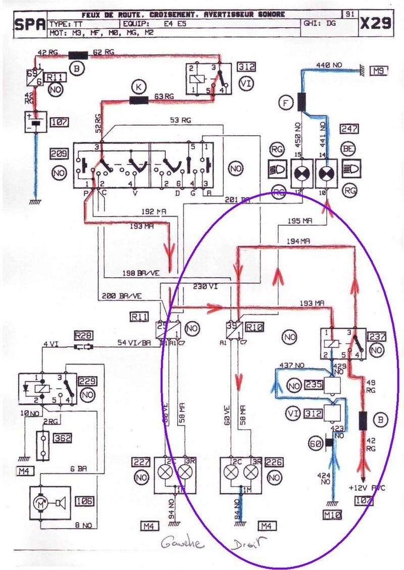 Probleme feux de route Renault 25 TDX 3_v_pa10