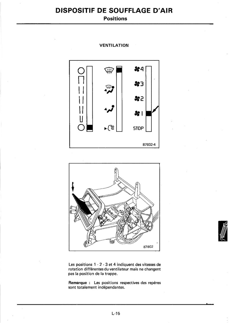 Chauffage Renault 25 Turbo DX 511
