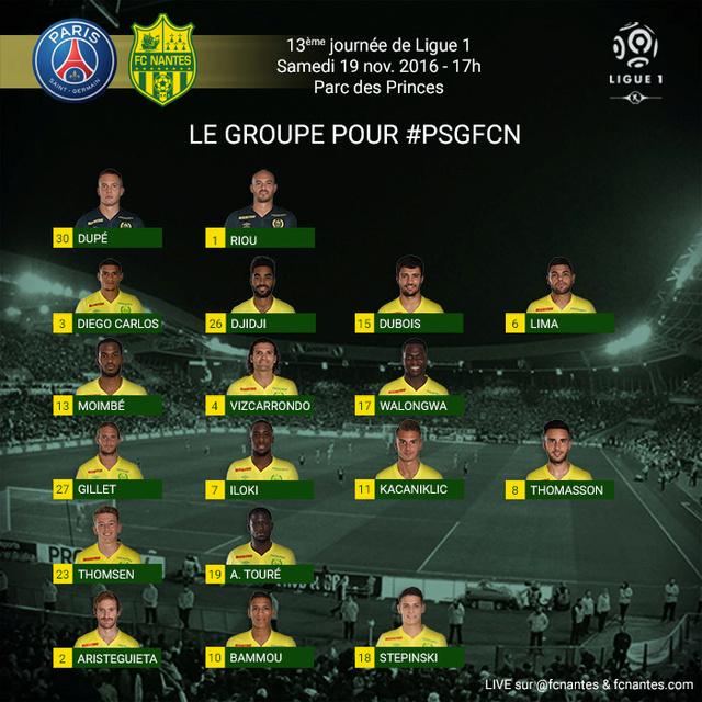13 éme journée : PARIS - NANTES le samedi 19/11 à 17 h P1grou11