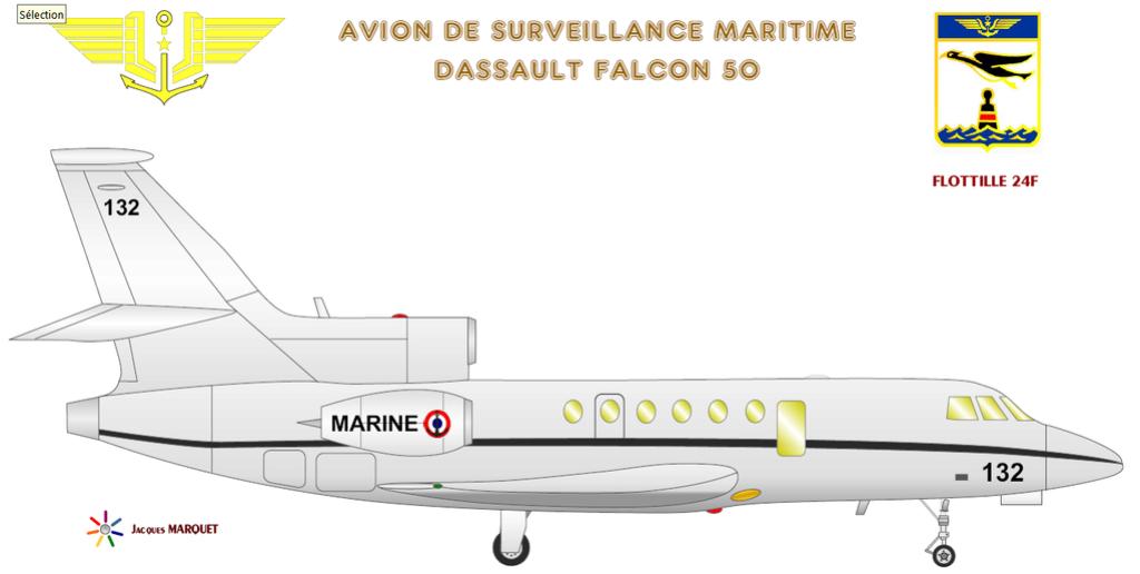 Avions de l'Aéronavale et autres Falcon11