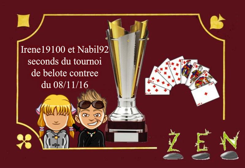 Irène19100 & Nabil92 - coupe des seconds du tournoi de contrée du 08/11/16 Coupe12