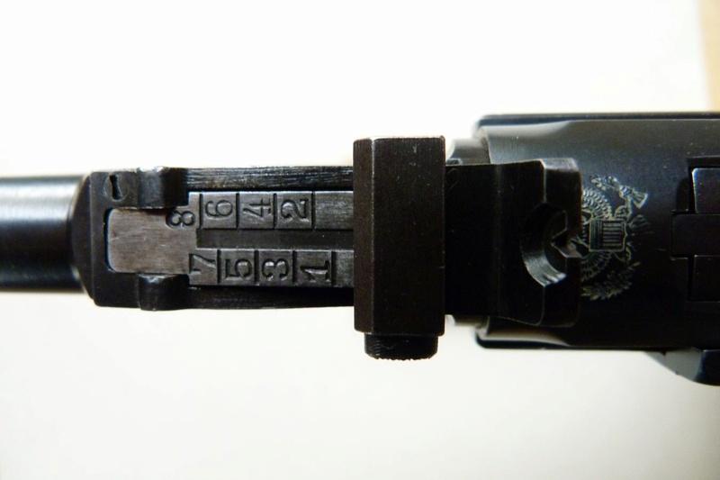 Les hausses et guidons des P 08 Lange Pistol. Hausse12